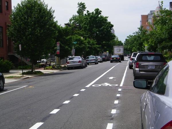 V street bike lane